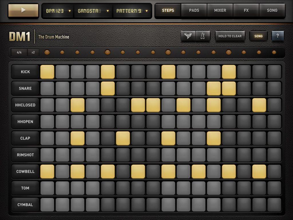 Step Sequenzer der Drum Machine DM1