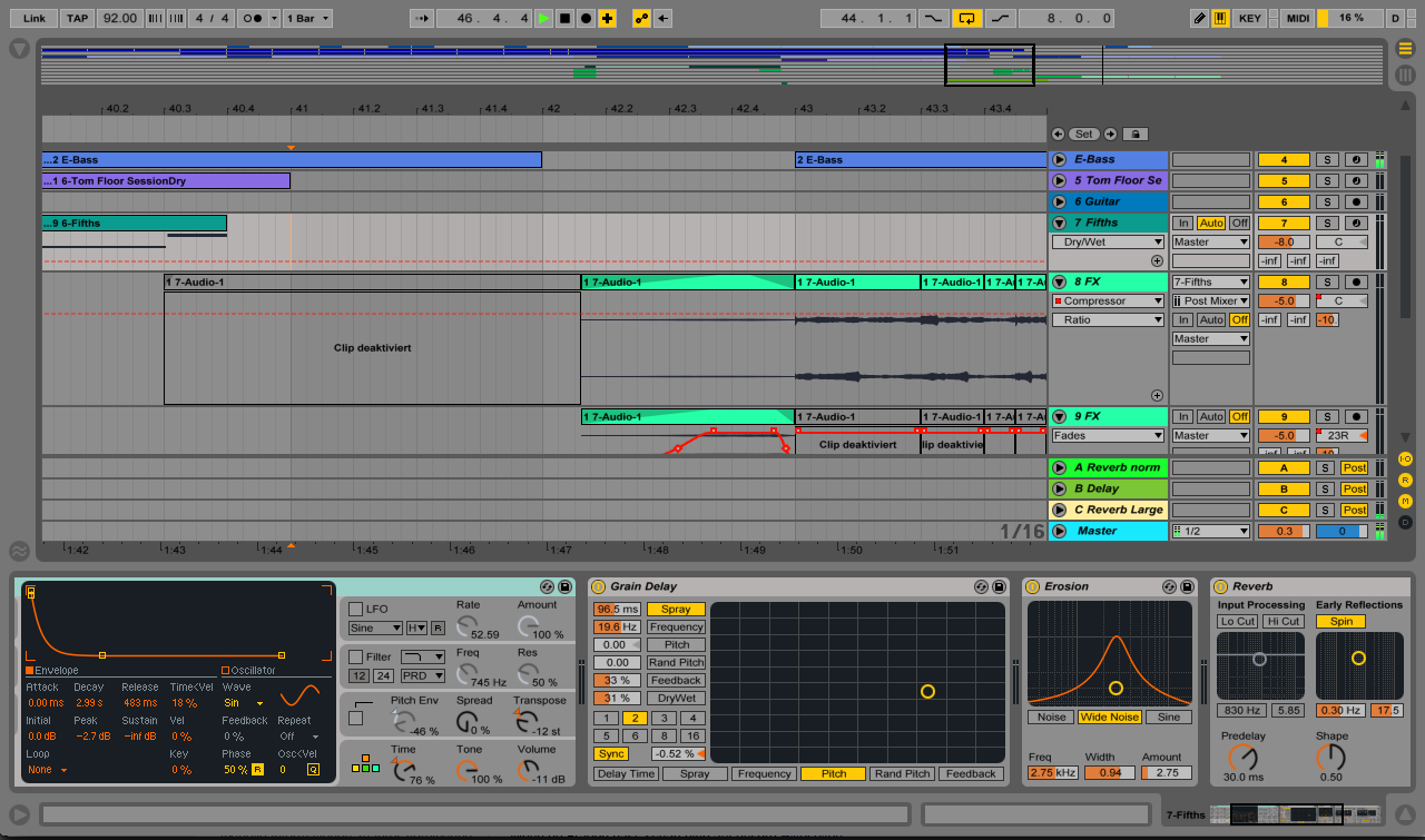 Ableton Live - Arangement View